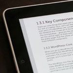 Thumb for eReaders and Digging Into WordPress
