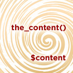 Putting the_content() into a PHP Variable