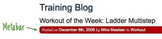 Screenshot of post-meta information