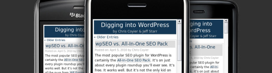 DigWP.com on the iPhone at al