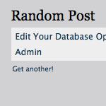 Display a Random Post (with AJAX Refresh) | Digging Into WordPress