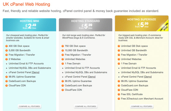 WebHostingBuzz - Hosting Plans