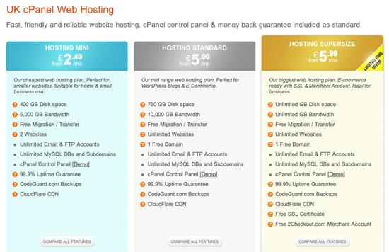 WebHostingBuzz - Hosting Plans