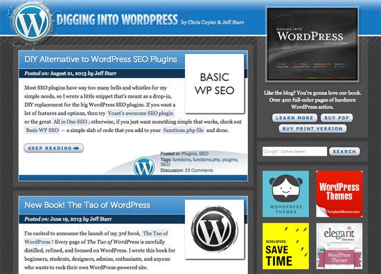 Site Redesign Digging Into WordPress
