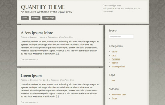 WP Theme: Quantify