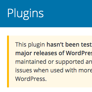 This plugin hasn't been tested with the latest 3 major releases of WordPress