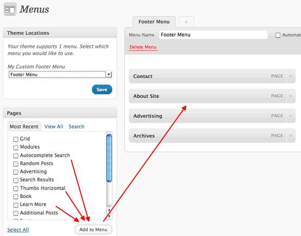 Diagram: Create a WordPress Menu